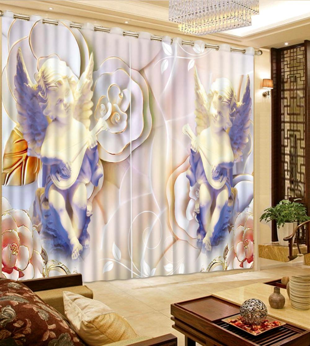 Moderne Fenster Vorhnge Benutzerdefinierte Fr Wohnzimmer Luxurise Europischen Kleine Engel Kche