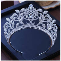 Jewelry Wedding Crown Bride Tiara Pageant Crowns for Women Bridal Tiaras Royal Prom headband Zircon Crystal Hair accessories
