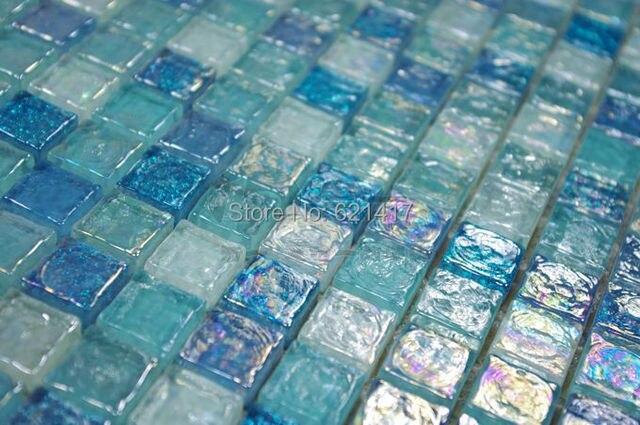 Blu cristallo mosaico di vetro piastrelle hmgm backsplash