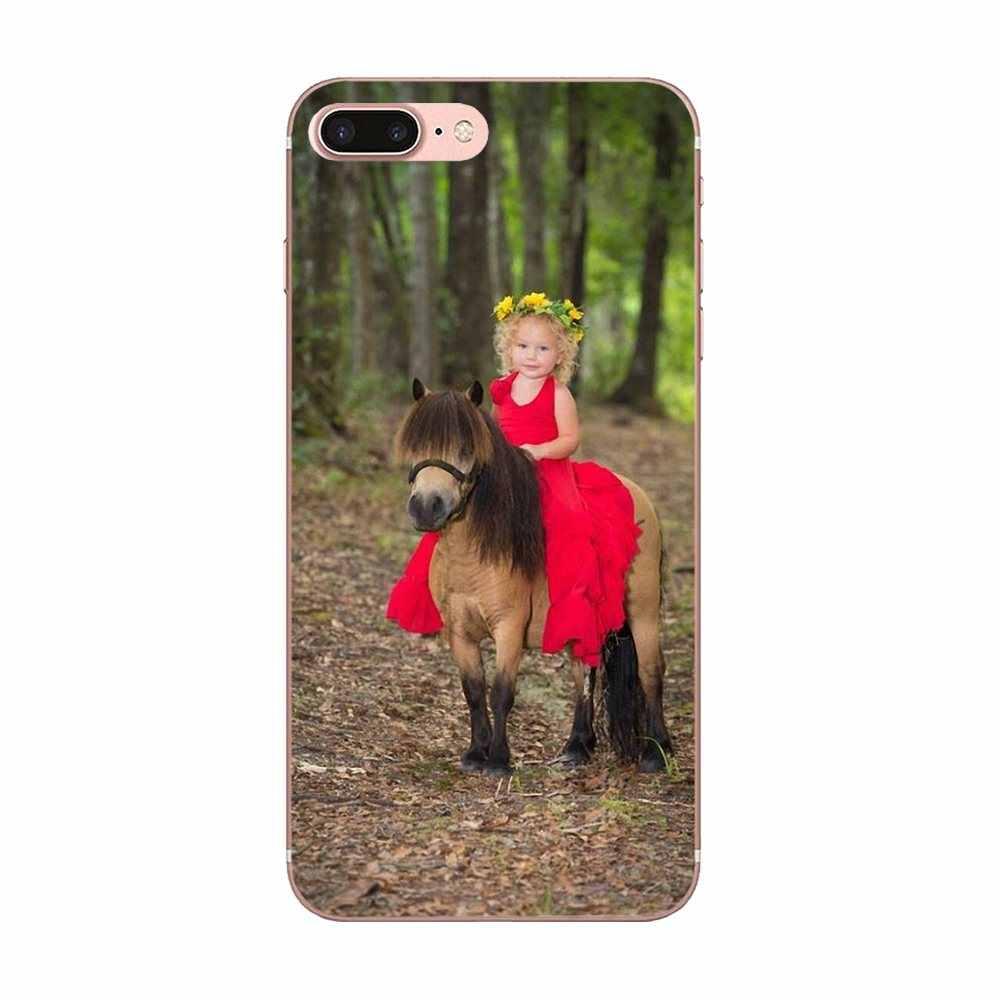 Принт мобильный телефон оболочки Пони лошадь для Galaxy J1 J2 J3 J330 J4 J5 J6 J7 J730 J8 2015 2016 2017 2018 mini Pro