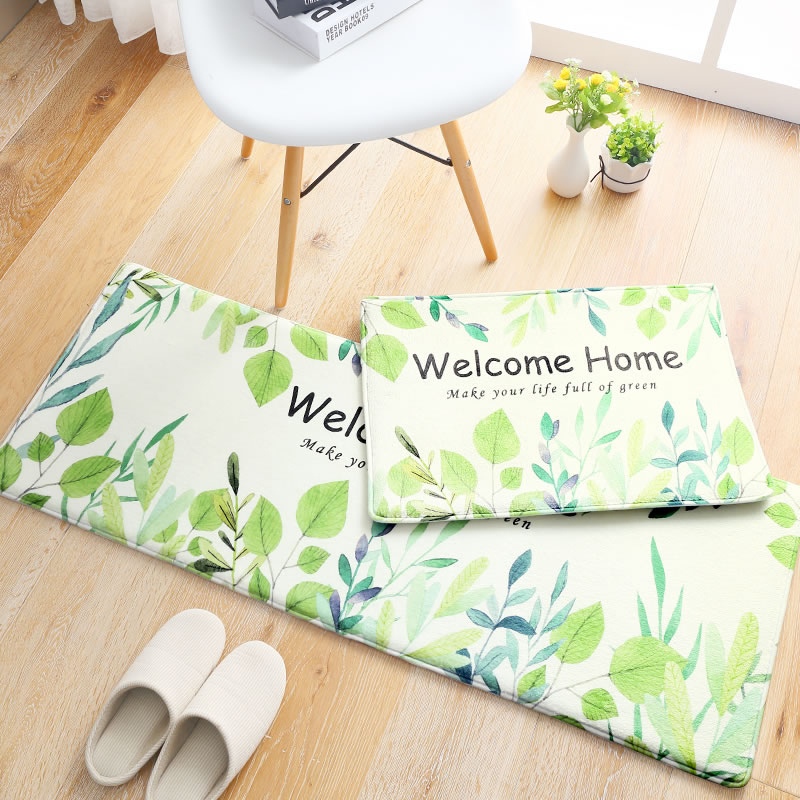 Freshness Home Carpet 45 120 Kitchen Mat Hallway Door Antislip Rugs Welcome Home Floor Mat Rectangle Floor Rugs Green Home Decor