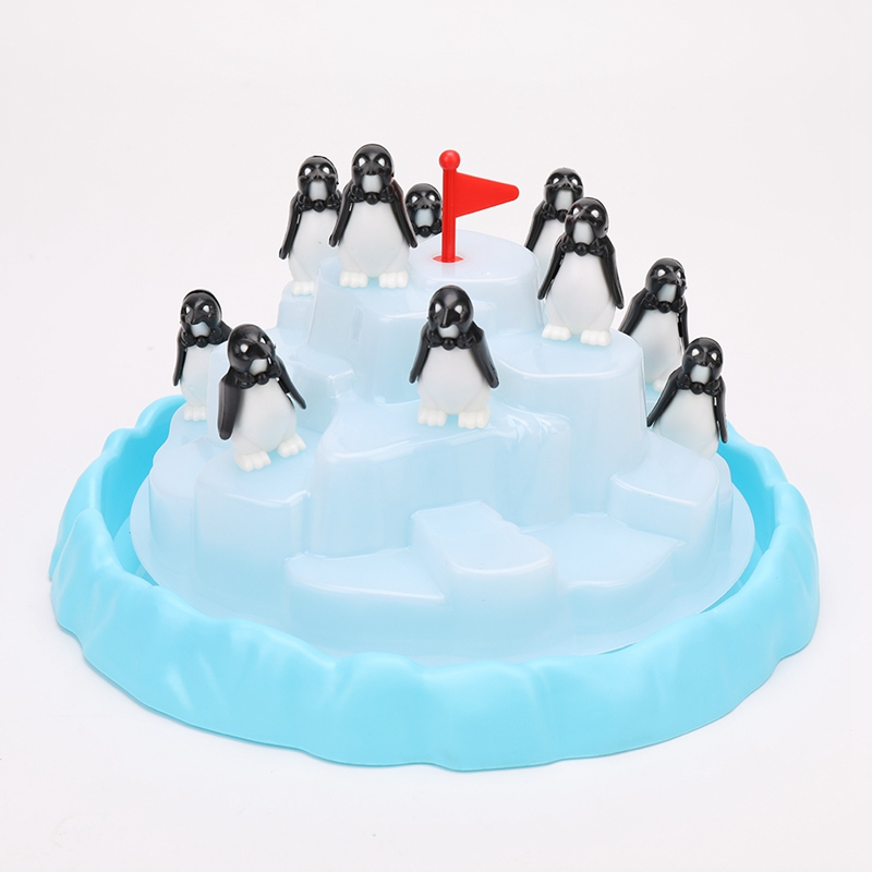 Penguin Iceberg Pile Up Toys Baby interactive Desk Toy Table Balance Game Penguin Iceberg Stacking Kids Educational Development penguin trap interactive ice breaker party game