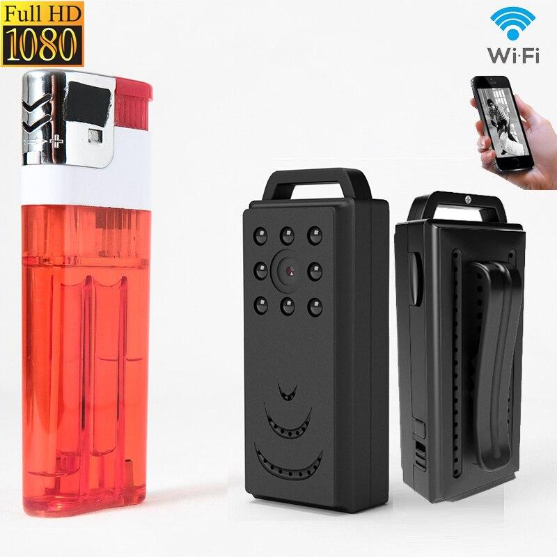 Mini caméra Wifi vision nocturne IP sans fil FHD 1080 P pour la police Portable petite caméra vidéo enregistreur sonore micro corps caméra secrète