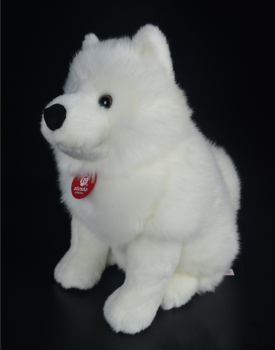 28cm Lifelike Samoyed Stuffed Toys Cute Simulation White Dog Plush Toy Puppy Plush Animals Toy Birthday Christmas Gifts