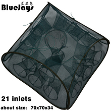 BlueJays 3 style 5 9 21 Inlets Syncronisation Cage Automatic Shrimp Cage Folding Fishing Net Cage Cast Fishing Net Tackle