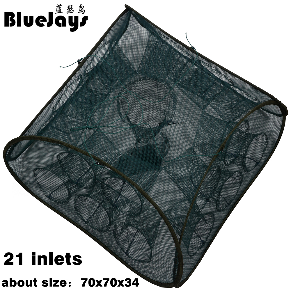 BlueJays 3 style 5 9 21 Inlets Syncronisation Cage Automatic Shrimp Cage Folding Fishing Net Cage Cast Fishing Net Tackle