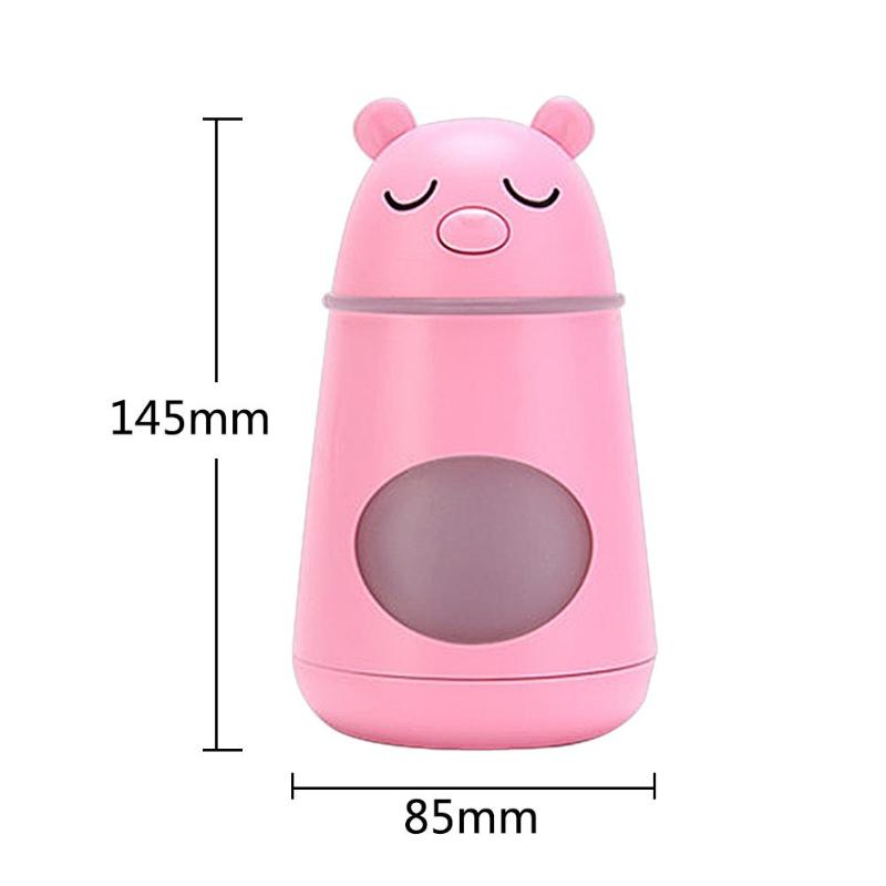 3 In 1 Mute Usb Air Humidifier Bear Shape Aromatherapy Essential Oil Aroma Diffuser Cool Mist Car Purifier With Led Night Ligh in Humidifiers from Home Appliances