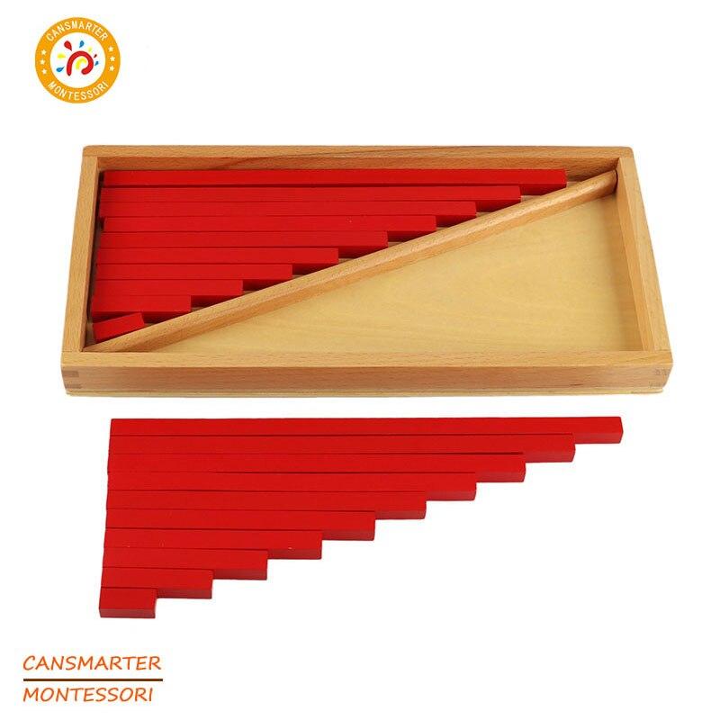 Éducatifs en bois Mathématiques Jouets Comptage Bâtons Rouge Boîte En Bois Préscolaire Enfants Enfant Enseignement Maison Montessori Jouets D'apprentissage Bébé LT064
