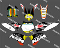 0111 Sun New Style TEAM GRAPHICS&BACKGROUNDS DECALS STICKERS Kits for KTM Motorcycle SX65 2009 2010 2011 2012 2013
