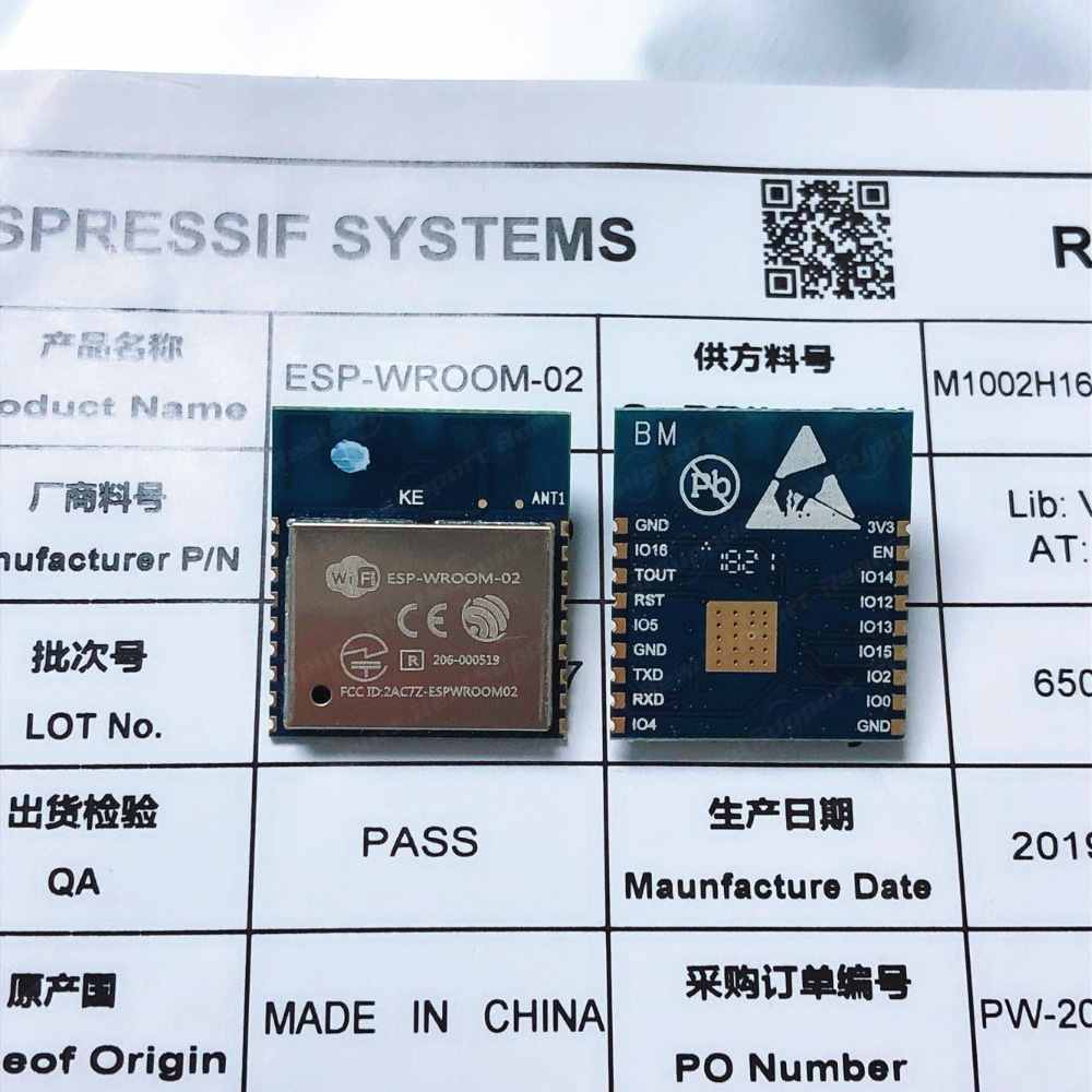 ESP-WROOM-02 2MB Flash Memory Standard Based On ESP8266 Espressif Authenticity Guaranteed FCC CE Certificated