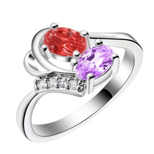 simple decent fashion Silver plated Ring Fashion Jewerly Ring Women&Men , /DHGSAQVI YKSOSKFF