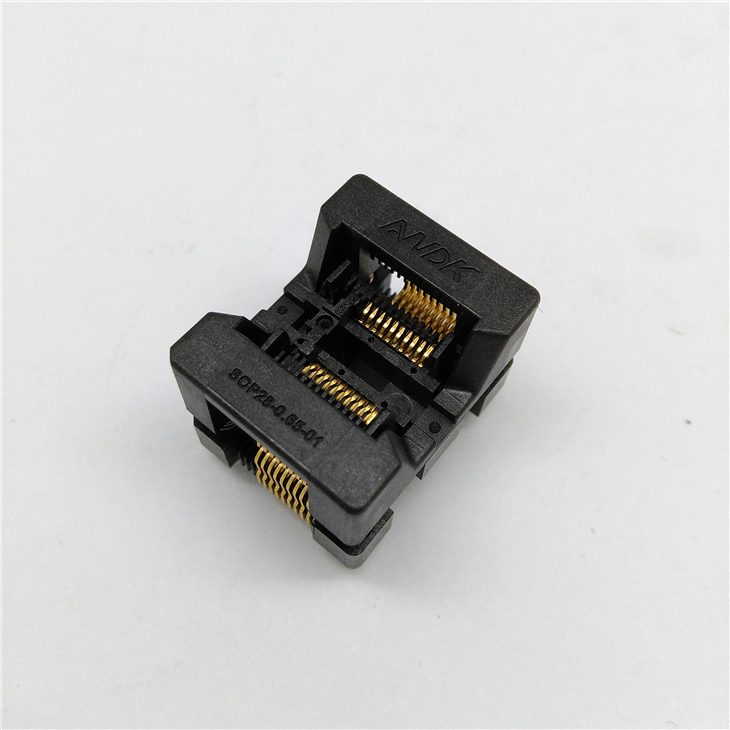 10pcs/lot Sop 20(28)-0.65-TP Burn in Socket Test Socket Pitch 0.65mm IC Body size 4.4mm 173mil Adapter with hight quality free shipping 10pcs lot 74hc574d 74hc574 sop 20 ic 100% new