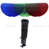 IShoot Multifunctional 25 45 Degree Honeycomb Grid Cover Red Green Blue RGB Color Filter Snoot Flash