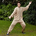 Traditional Chinese Men Kung fu UniformCotton Tai Chi Wu Shu Suit  Male Vintage Button Clothing M L XL XXL XXXL NS017