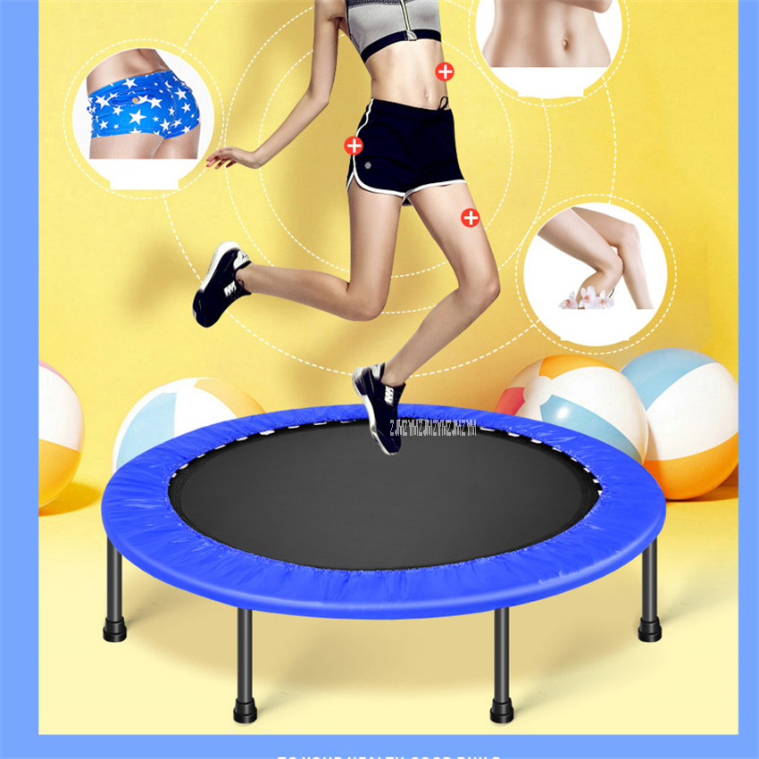 Children Fitness Trampoline For Home Storage Elastic Thickly Padded Cover Offer More Safety Size 60 inch PVC Material  MK-60