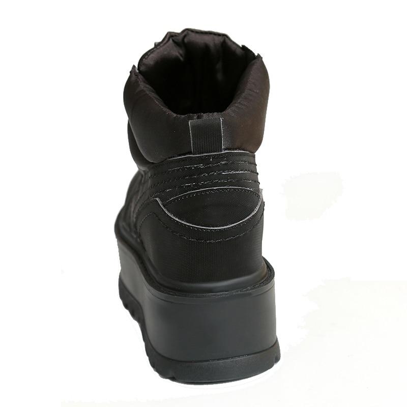 Le black Cheville Lace Haute De Femmes Vers Chaussures Tissu Croissante Bottes Dames Bas Plate Coton forme D'hiver up Qualité Hauteur Aphixta Mode Pink green xgWqUnSp