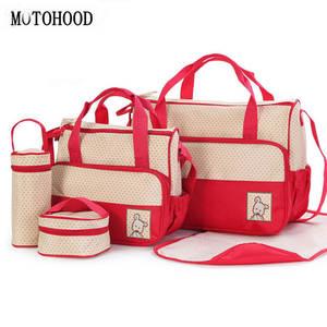 7030a215f4 MOTOHOOD 5pcs Baby Diaper Bag Stroller Maternity Nappy Bags