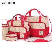 MOTOHOOD sacs à couches pour bébé, 39x28.5x17CM, 5 pièces, ensemble pour poussette, ensemble porte bouteille
