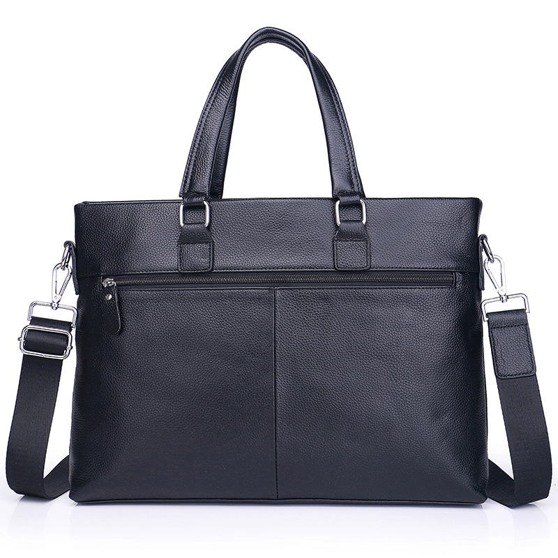 Men's Briefcase Business Tote Computer-Bag Messenger Genuine-Leather Luxury New Brnnd