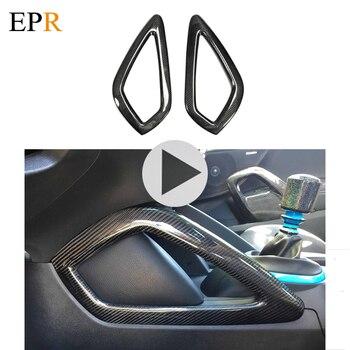 Akcesoria do wnętrza samochodu dla Veloster konsoli środkowej uchwyty kij z włókna węglowego typu 2 sztuk samochodów stylizacji dla Hyundai Veloster