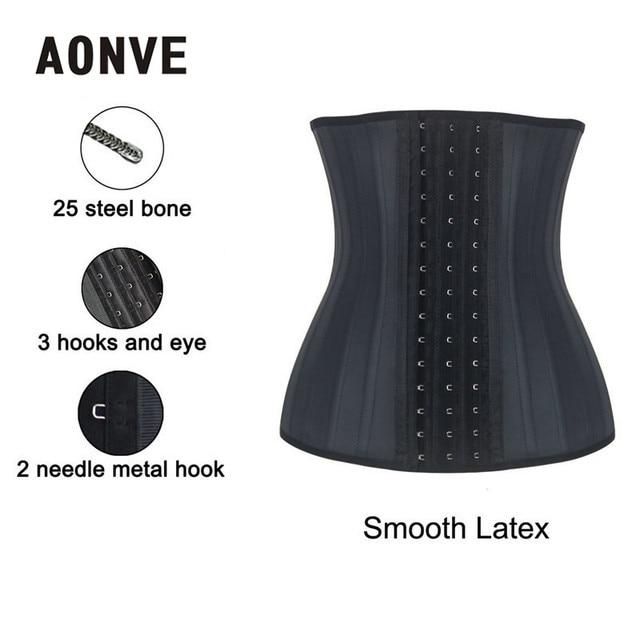 340b881b12 AONVE Modeling Strap Latex Waist Trainer Corset Belly Slimming Belt Sheath  Shaper Waist Cincher 25 Steel Boned Fajas Shaperwear
