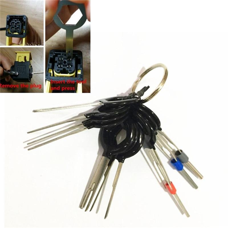 11 Pcs Car Electrical Terminal Wiring Crimp Connector Pin Remove ...