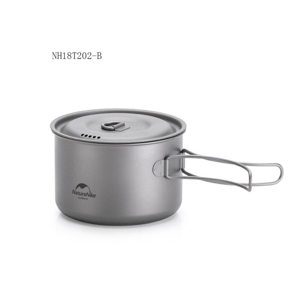 Pot de titane en plein air poêle tasse tasse ultra-légère Camping randonnée pique-nique vaisselle ustensiles de cuisine 800 ml 1250 ml - 3