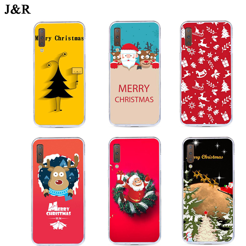 Christmas Cases For Samsung Galaxy A7 2018 Case Silicone TPU Cover For Samsung A7 2018 A750F A750 SM-A750F A 7 <font><b>A72018</b></font> Covers 6.0 image