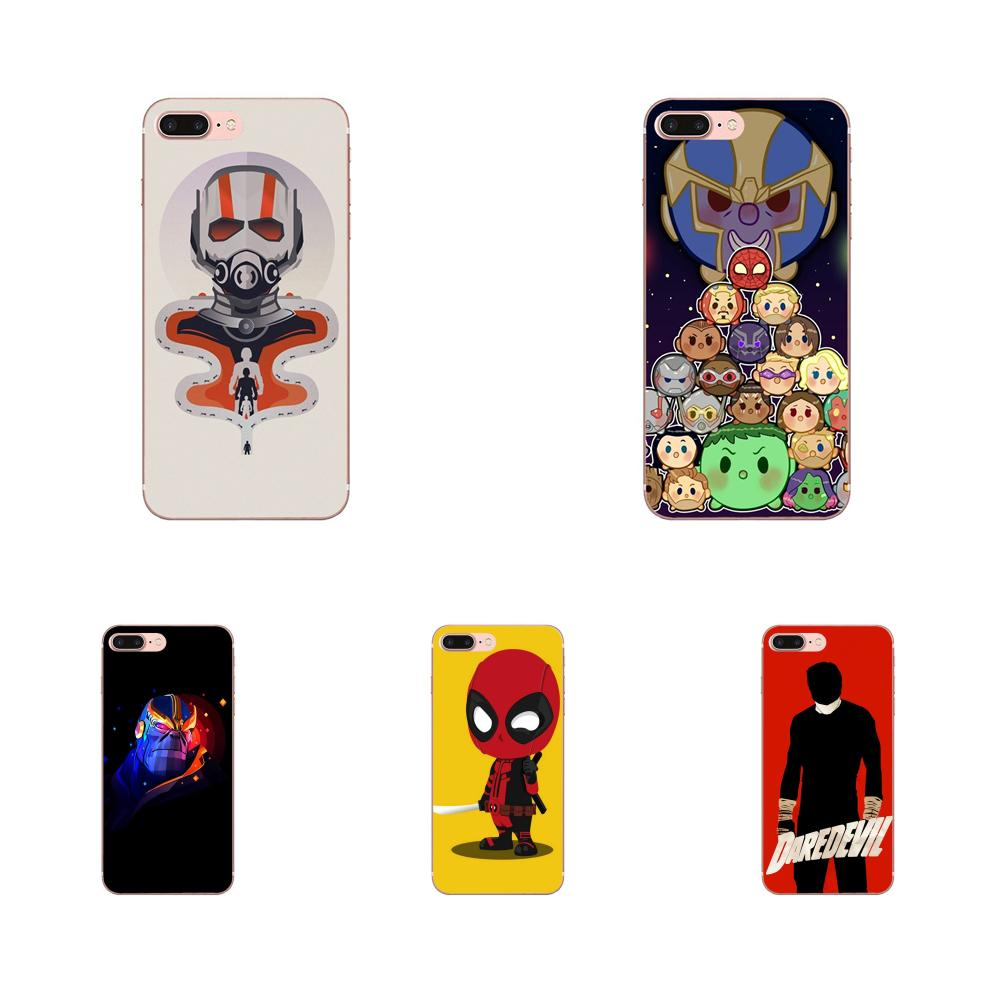 New Luxury Phone Case Marvel Comics Daredevil Thanos For Apple iPhone 4 4S 5 5C 5S SE 6 6S 7 8 Plus X XS Max XR image