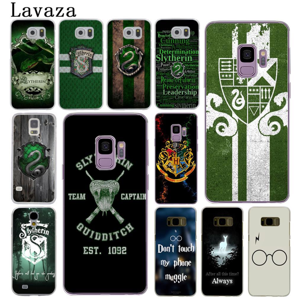 half off c1991 44d0d Lavaza Harry Potter Slytherin School Crest Hard Phone Cover Case for  Samsung Galaxy S10 E S10E S8 S9 Plus S6 S7 Edge Cases