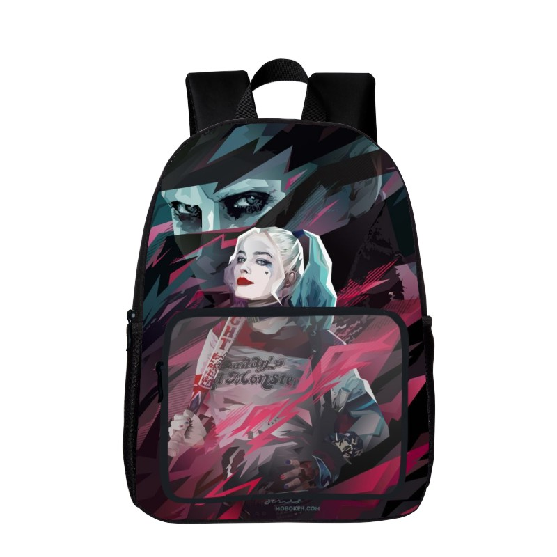 2017 New Style DC Comics Suicide Squad / Harley Quinn Women Backpack Tenns Girls Backpacks Kids School Bags Student Shoulder Bag