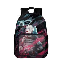 2017 New Style DC Comics Suicide Squad Harley Quinn Women Backpack Tenns Girls Backpacks Kids School