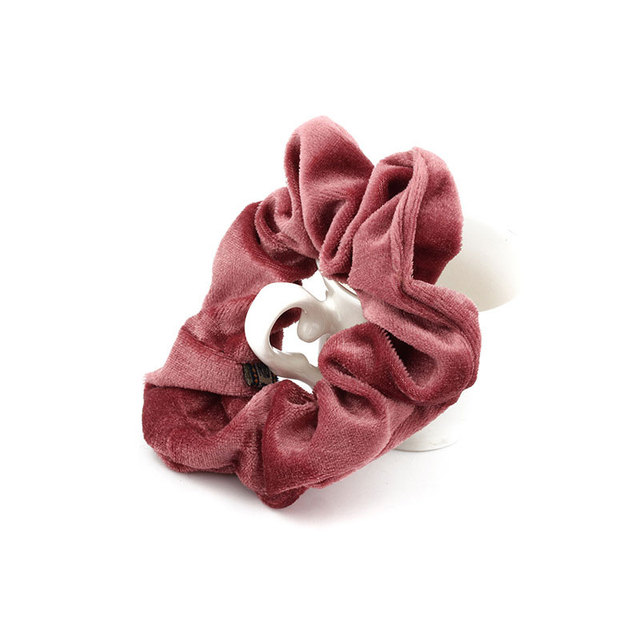1PC Women Elegant Velvet Solid Elastic Hair Bands Ponytail Holder Scrunchies Tie Hair Rubber Band Headband Lady Hair Accessories 5