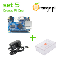 Orange Pi One SET5: Orange Pi One+ Transparent ABS Case+ Power Supply Supported Android, Ubuntu, Debian