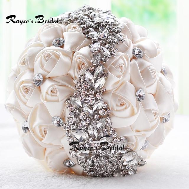 Increíble Sparkle Moldeado Cristalino Flores de La Boda Ramo de Novia Dama de honor Ramo de Novia Broche Nuevo Buque De Noiva