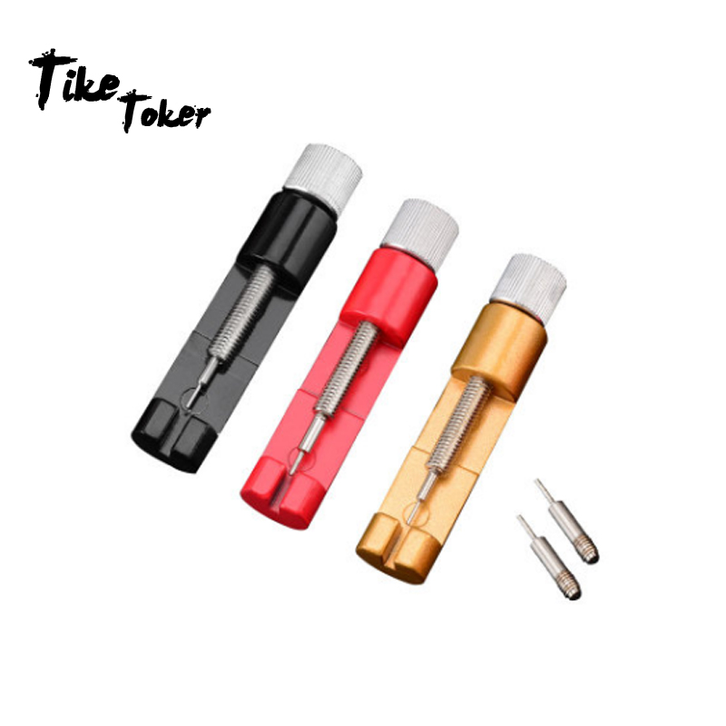 TIke Toker Professional Watch Band Adjuster Watch Strap Bracelet Link Pin Remover Repair Watch Tool with Spare Needles Metal 10