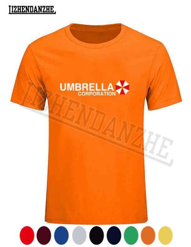 Umbrella Corporation Tees Kemeja Rock Lengan Pendek Katun Musim Panas T Kemeja Vintage Gaya Merchandise T-shirt Hadiah