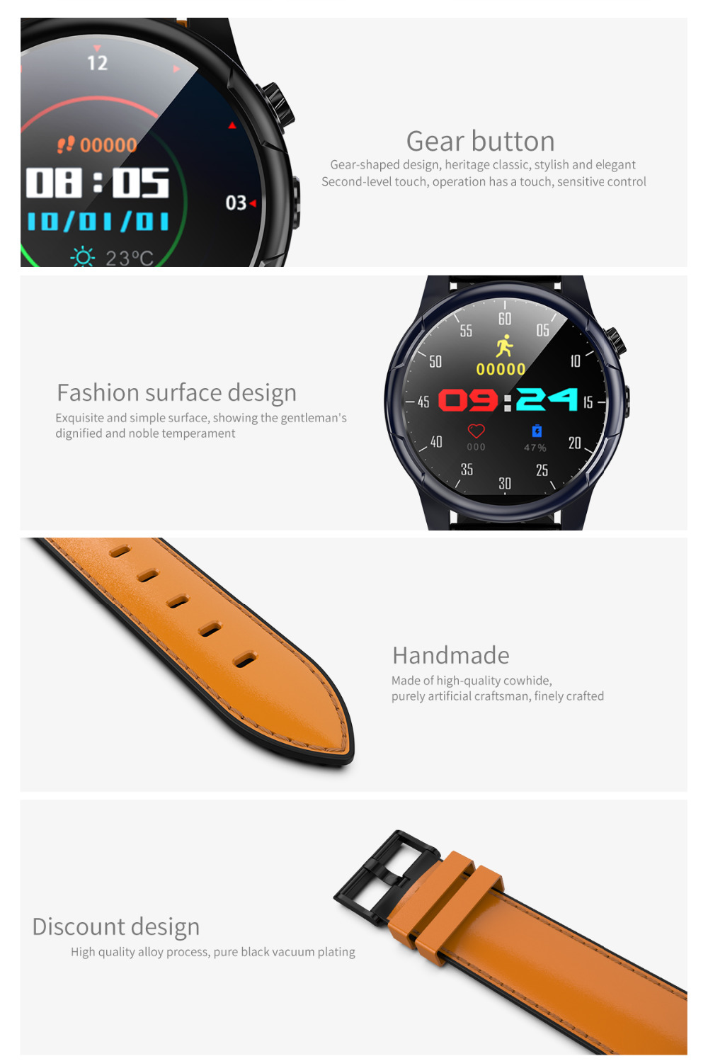 77ffd518d New Android 7.1 Smart Watch GPS MTK6739 3GB+32GB Smartwatch 4G Watch ...