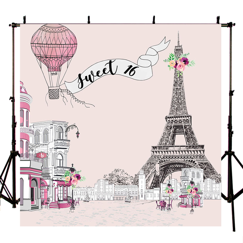 Gambar Menara Eiffel Kartun Hitam Putih