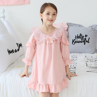 Fashion Baby Girls Pajamas Thin 100% Cotton Summer Nightdress Kids Home Clothes for Children Nightgowns Princess Nightclothes