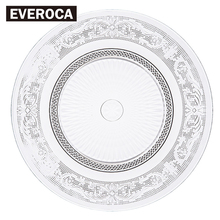 Nordic Embossed Glass Plate Lead Free Fruit Dessert Snack Creative Home Dried