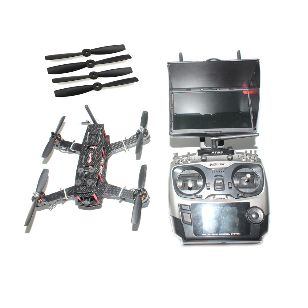 JMT DIY Racer 250 FPV RTF Drone with SP Racing F3 Flight Controller CCD Camera Radiolink AT9S TX&RX With Battery FPV Monitor