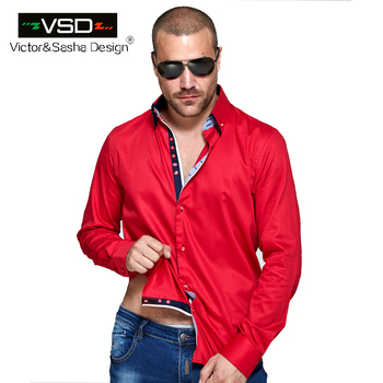 Double Collar Casual Four Breasted Fashion Slim fit Shirt