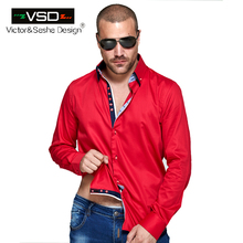 Double Collar Casual dress Four Breasted Fashion Slim fit Long Sleeve Premium Cotton Shirting High Quality Men's Shirt Euro Size