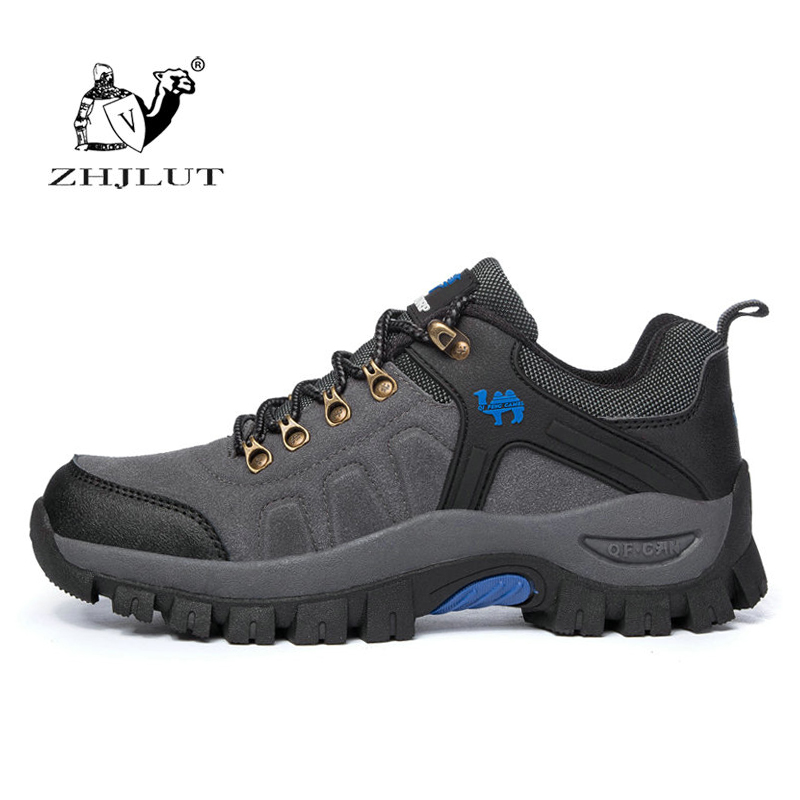 Suede Leather Outdoor Hiking Shoes Men & Women Autumn Shock Absorption Breathable Walking Climbing Brand Quality Trekking Shoes women outdoor hiking shoes professional breathable new design women climbing shoes brand genuine leather sports shoes bd8061