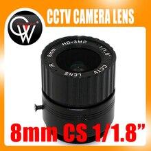 8mm cs lens HD CCTV Camera Lens 43 degree 3MP IR HD Security Camera Lens For HD IP AHD HDCVI SDI Cameras CS Mount