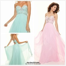 free shipping 2013 new Girls Wear bcb maxi dresses Long Dresses Formal custom size/color pink blue chiffon Graduation