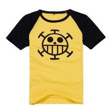 One piece Trafalgar Law T shirt cosplay costumes Unisex tops cartoon short sleeved Summer tees