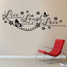 Wall Stickers Quotes Live Laugh Love Art Room Decal Mural Transfer H531