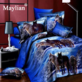 Quality Sale Rushed Duvet Cover 3d Bedclothes Wolf Leopard Tiger Panda Flower 4pcs Bedding Sets Or Reactive Print BE1073